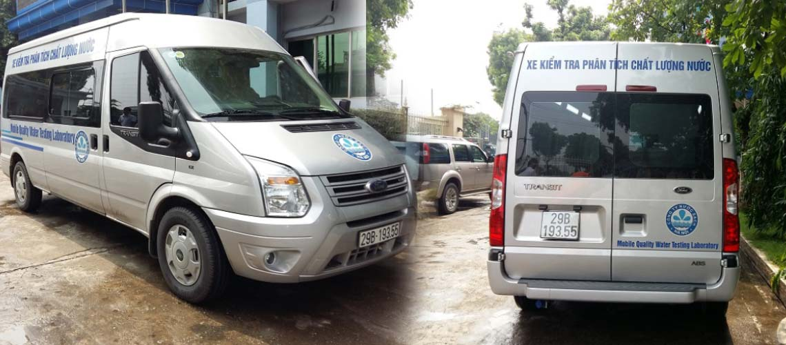 Xe ô tô kiểm tra phân tích chất lượng môi trường, chất lượng nước